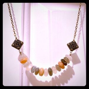 Boutique handmade moonstone necklace, 19 inches
